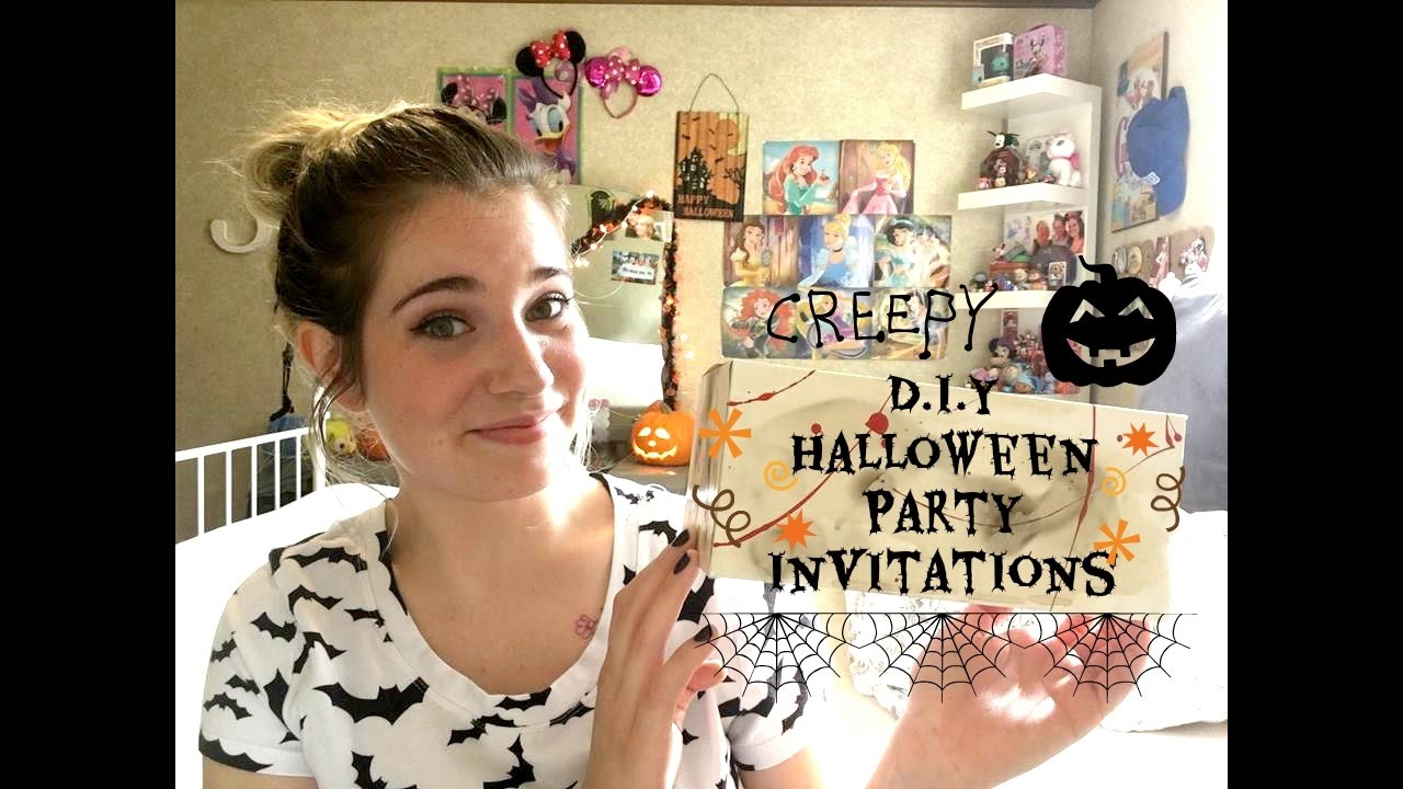 D.I.Y HALLOWEEN PARTY INVITATIONS - YouTube