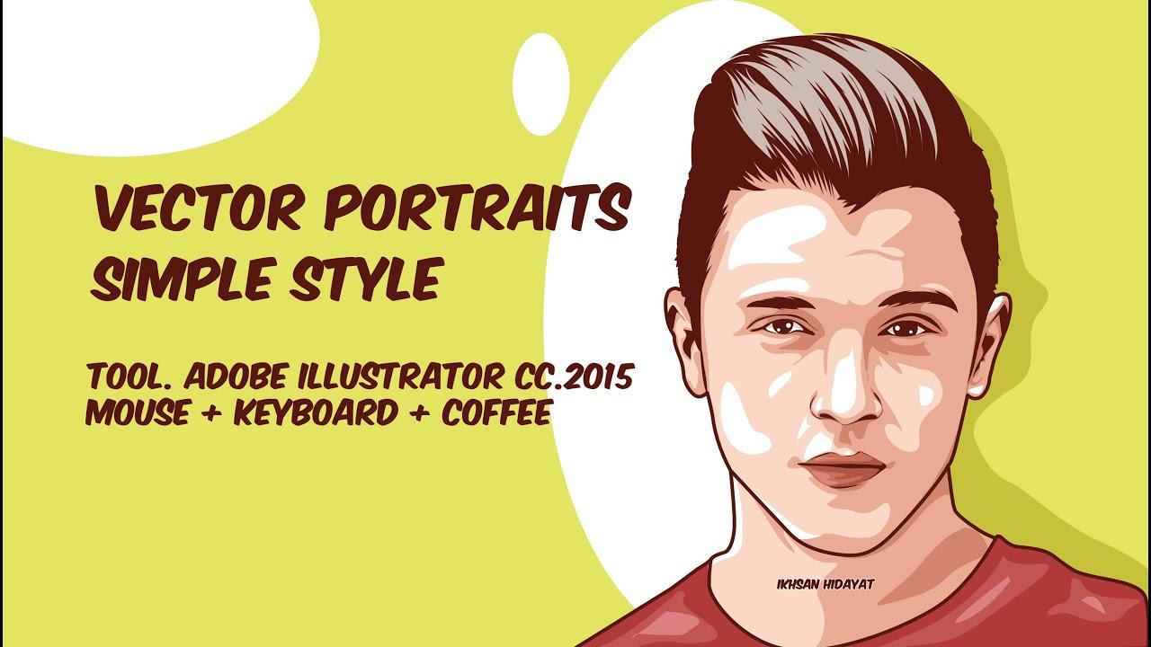 Vector Portraits 3 Layer - Illustrator Tutorials - YouTube