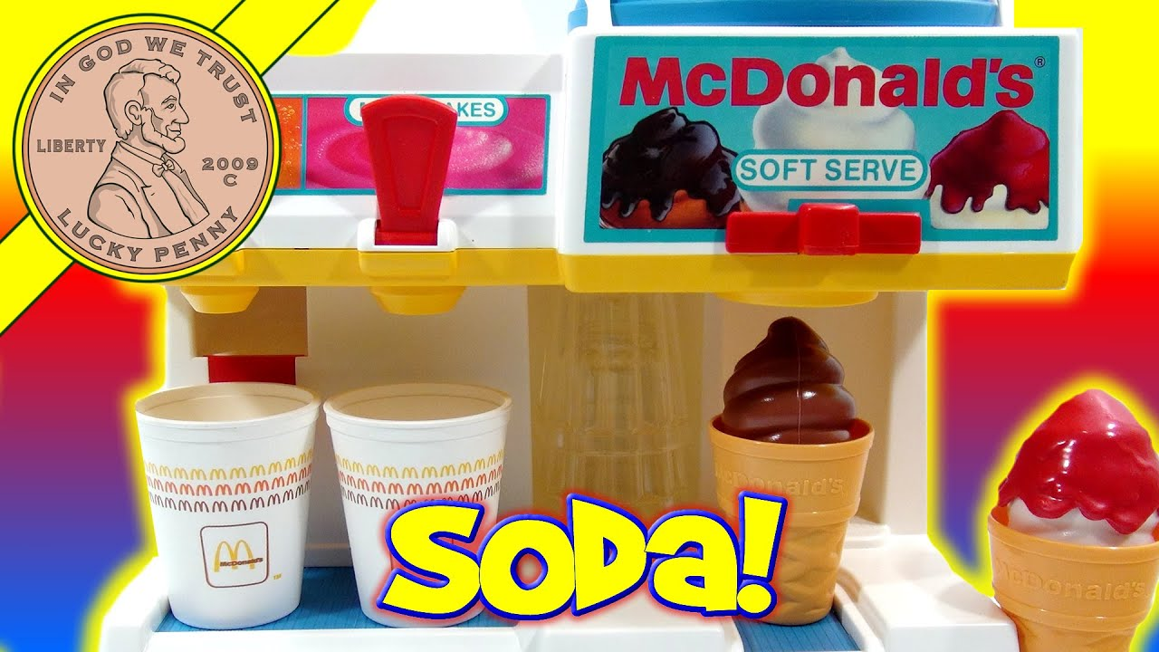 Fisher Price Mcdonald S Soda Fountain Soft Drinks Sundaes
