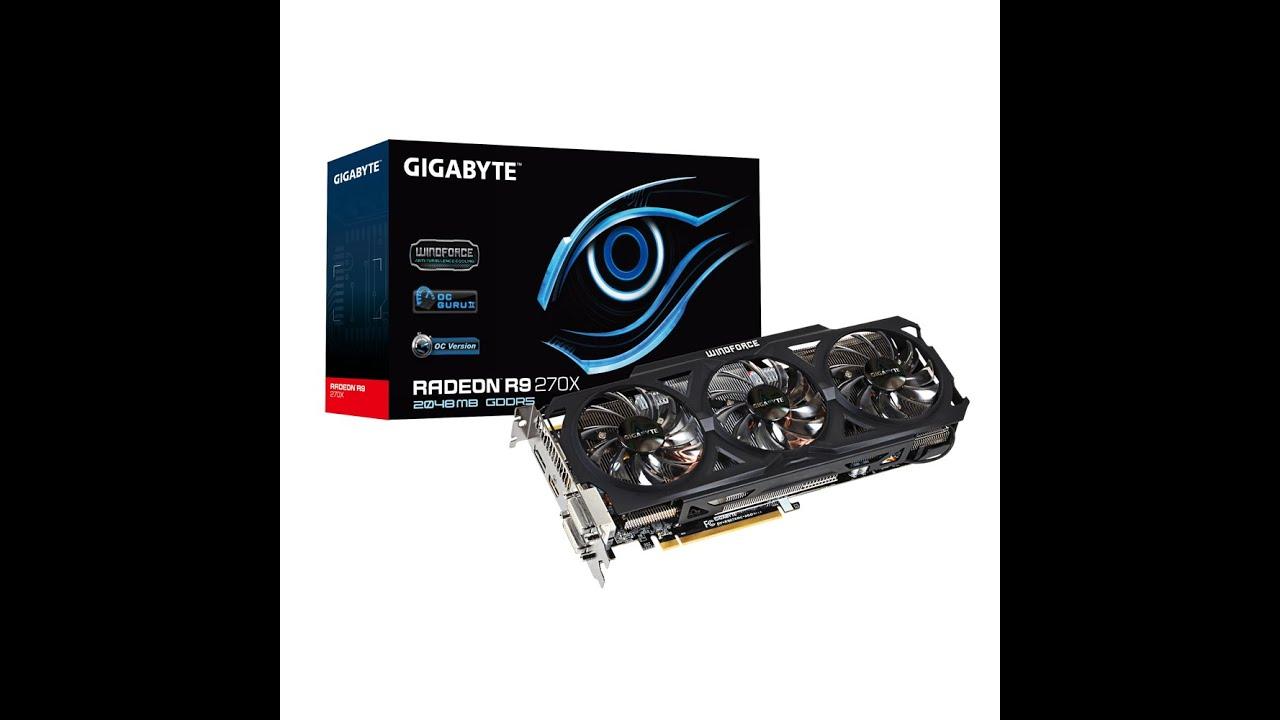 Unboxing ATI Radeon Gigabyte R9 270x OC Edition Windforce 3x