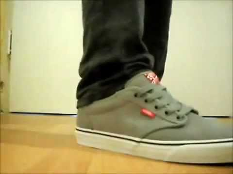 Vans Atwood Mid Grey on feet - YouTube 38ef70c0310