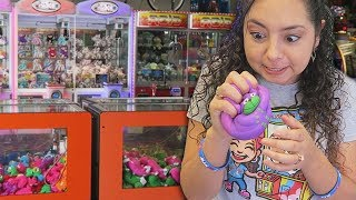These claw machines were frustrating!