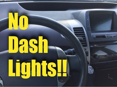2004-2009 Toyota Prius No Dash Lights Fix!