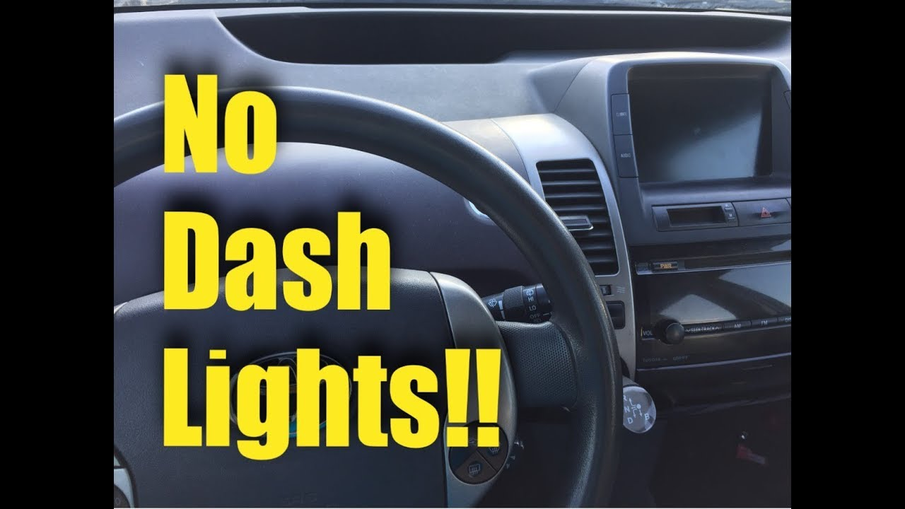2004 2009 Toyota Prius No Dash Lights Fix Youtube