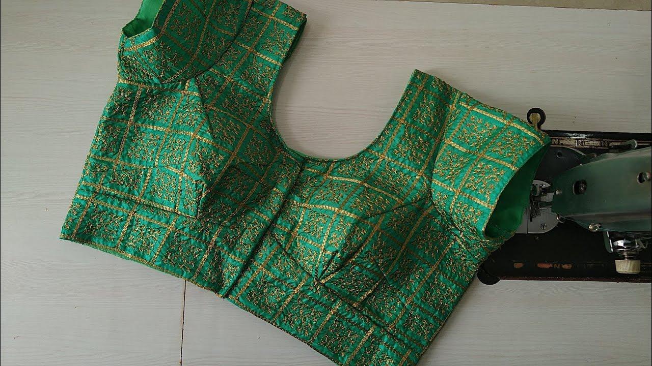 """38""""size 4 tucks beautiful patchwork model blouse gala design cutting & stitching/Adis Fashion"""