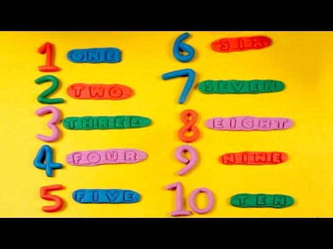 Play Doh Numbers with spelling | 1-10 | Number Spelling 1 to 10 ...