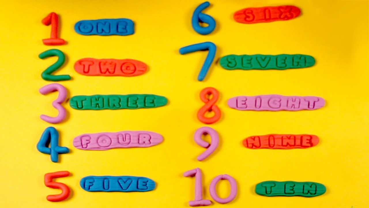Play Doh Numbers With Spelling