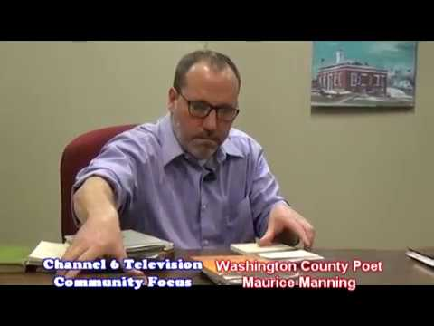 Community Focus with Award Winning Poet Maurice Manning 1 2017