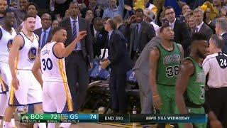 Stephen Curry Mocks Jaylen Brown After Buzzer-Beater 3 During Warriors Vs. Celtics (March 8, 2017)