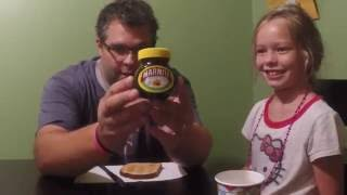 Andy and Daughter Jackie Eat Marmite on Toast