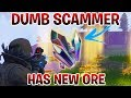 Dumb Scammer Has  NEW  ORE    Scammer Gets Scammed  Fortnite Save The World
