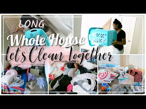 LET'S CLEAN TOGETHER // WHOLE HOUSE // TIME LAPSE CLEANING