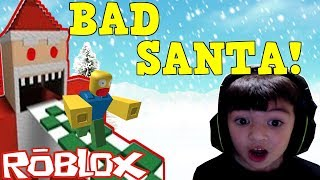 Roblox Escape 🎅Santa Claus🎅 Obby - C'est un BAD SANTA!!