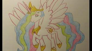 Как нарисовать принцессу СЕЛЕСТИЮ.(Огромное спасибо всем кто подпишется на канал и поставит лайк ,скоро новые видео!, 2014-12-30T11:37:21.000Z)