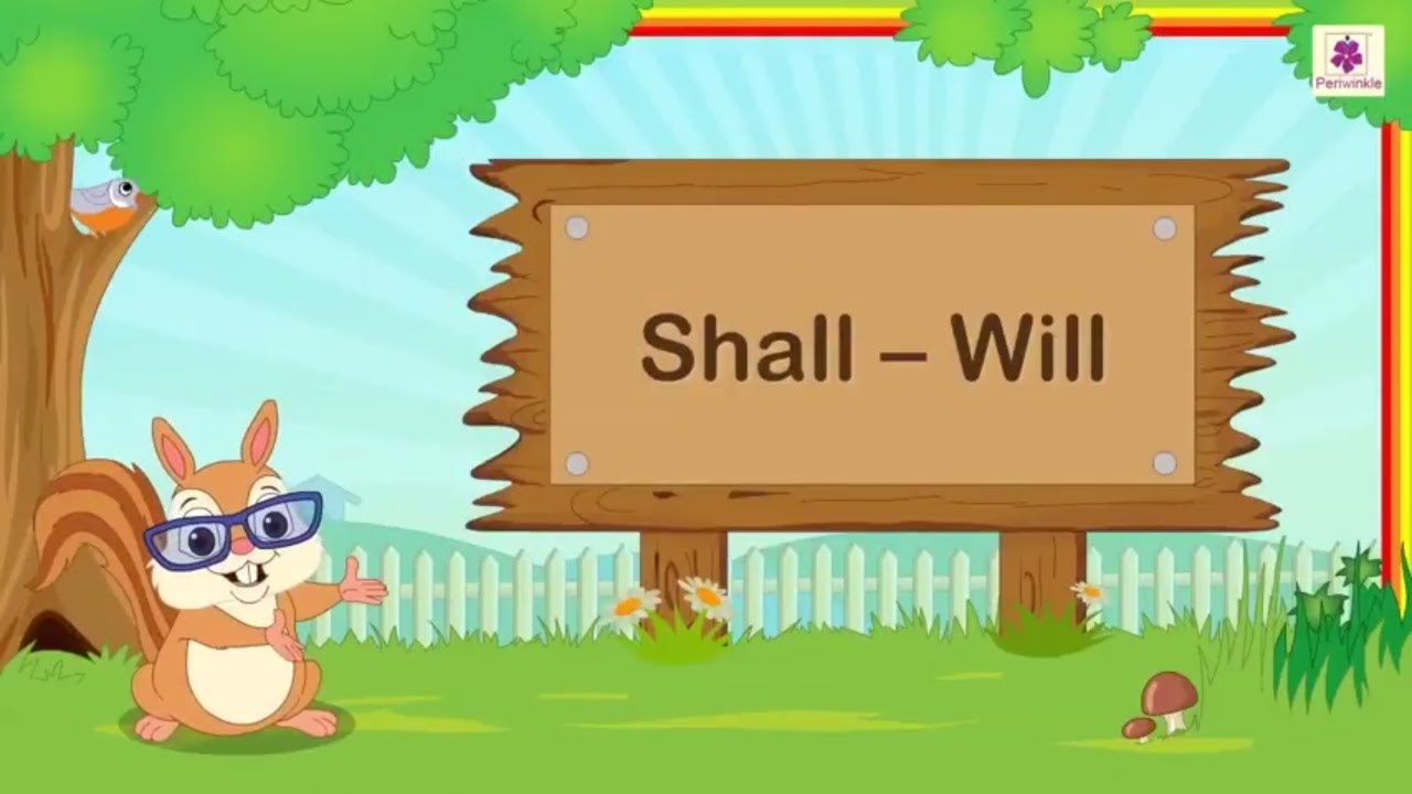Shall and Will   English Grammar & Composition Grade 3   Periwinkle