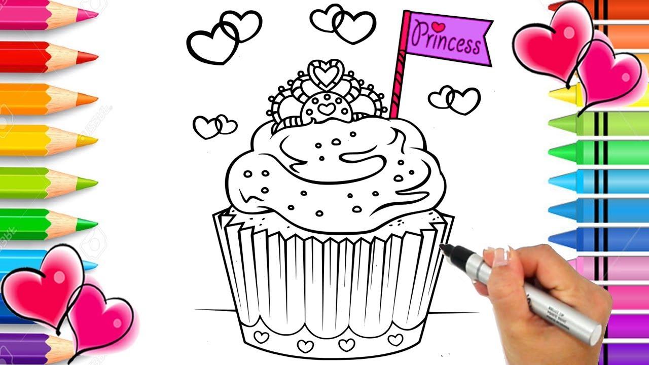 - Princess Cupcake Coloring Page Rainbow Cupcake Coloring Book