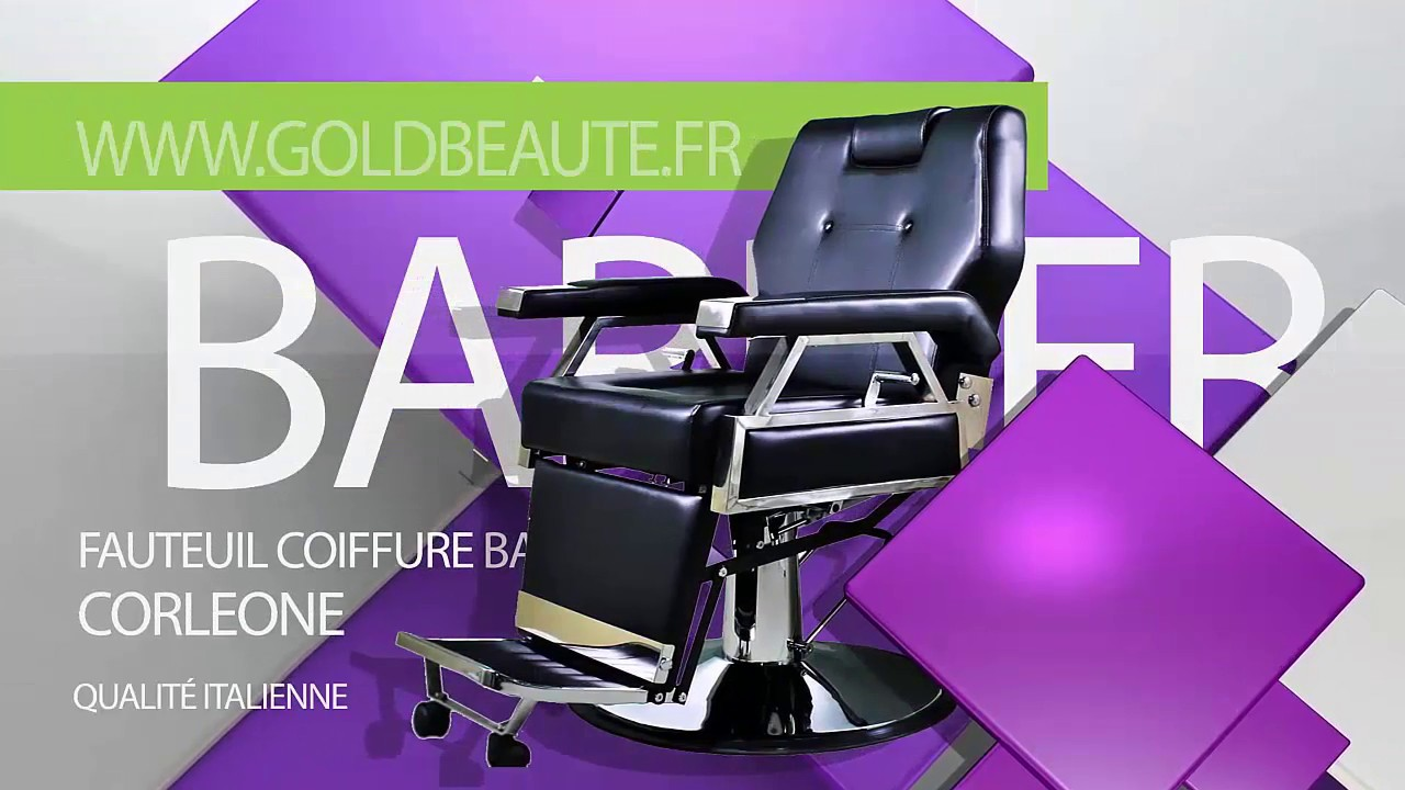 fauteuil coiffure barbier homme ww goldbeaute fr pas cher youtube. Black Bedroom Furniture Sets. Home Design Ideas
