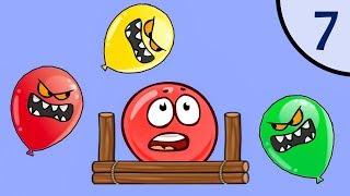 Новый Несносный КРАСНЫЙ ШАР #7. Мультик ИГРА New Red Ball на Игрули TV