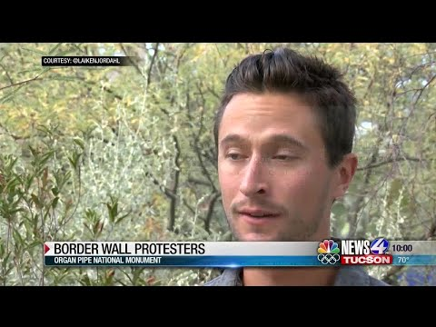 Garret Lewis - Protesters At New Wall At Organ Pipe Natl Monument Lie About The Wall