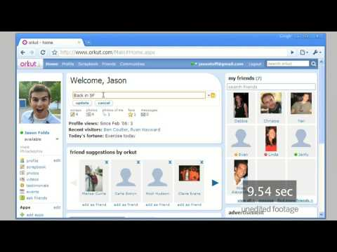 orkut in Google Chrome