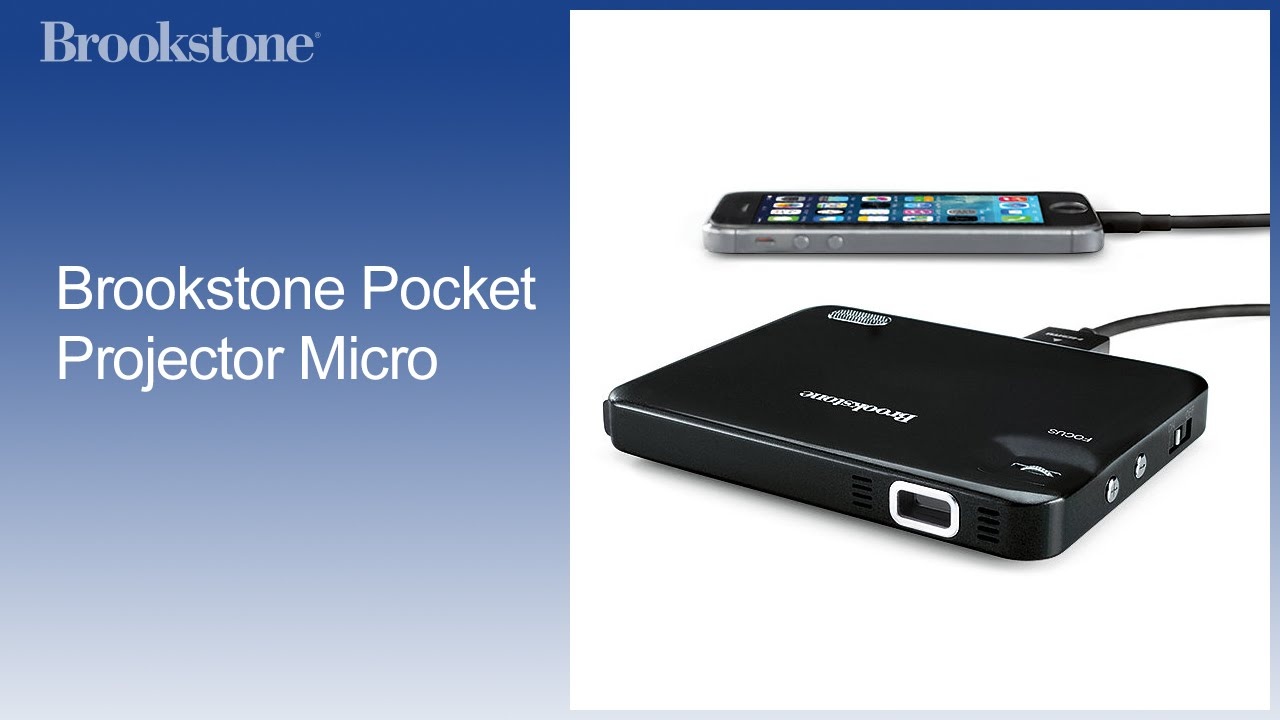 Brookstone pocket projector micro youtube for Where to buy pocket projector