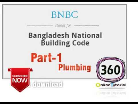 BNBC ESCB training - part-1 ( Plumbing )