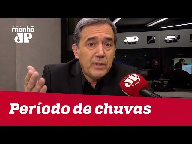 Bruno Covas não deveria tirar licença durante período de chuvas | #MarcoAntonioVilla