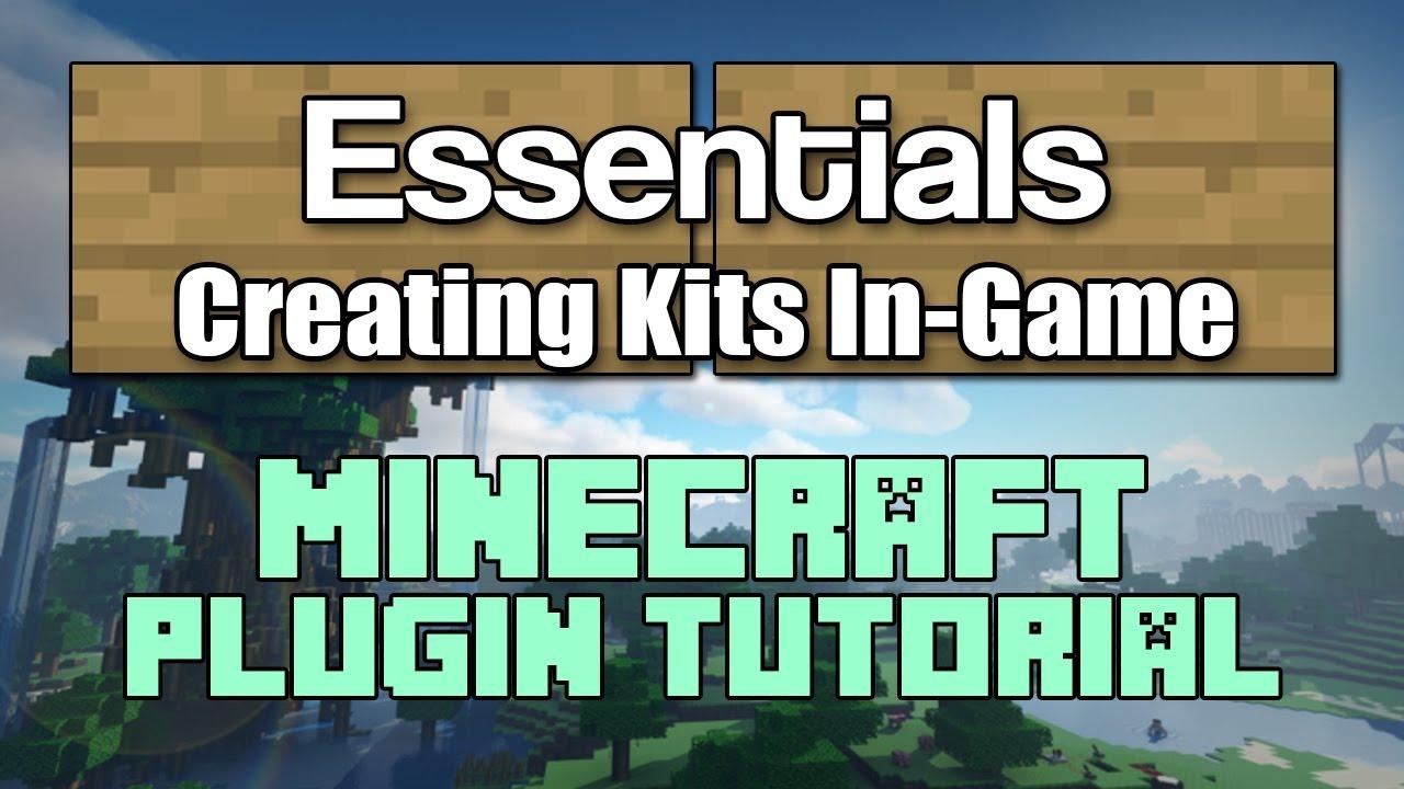EssentialsX - In-Game Kit Creating Tutorial - Minecraft 1 12