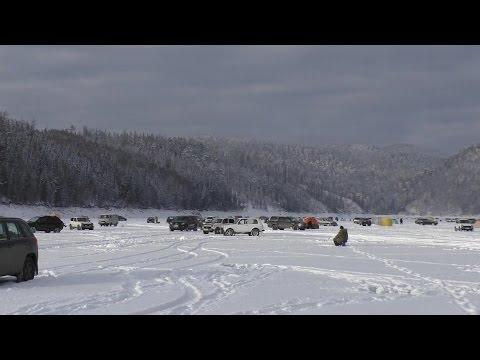 Зимняя рыбалка, Бирюсинский залив, Красноярское водохранилище.