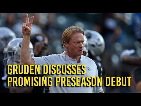 Gruden sees Raider room for improvement in promising preseason debut