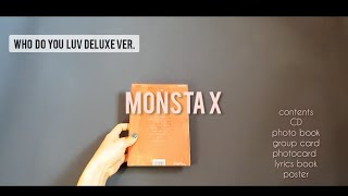 開箱Unboxing Monsta X몬스타엑스 Album All About Luv (Deluxe ver.)