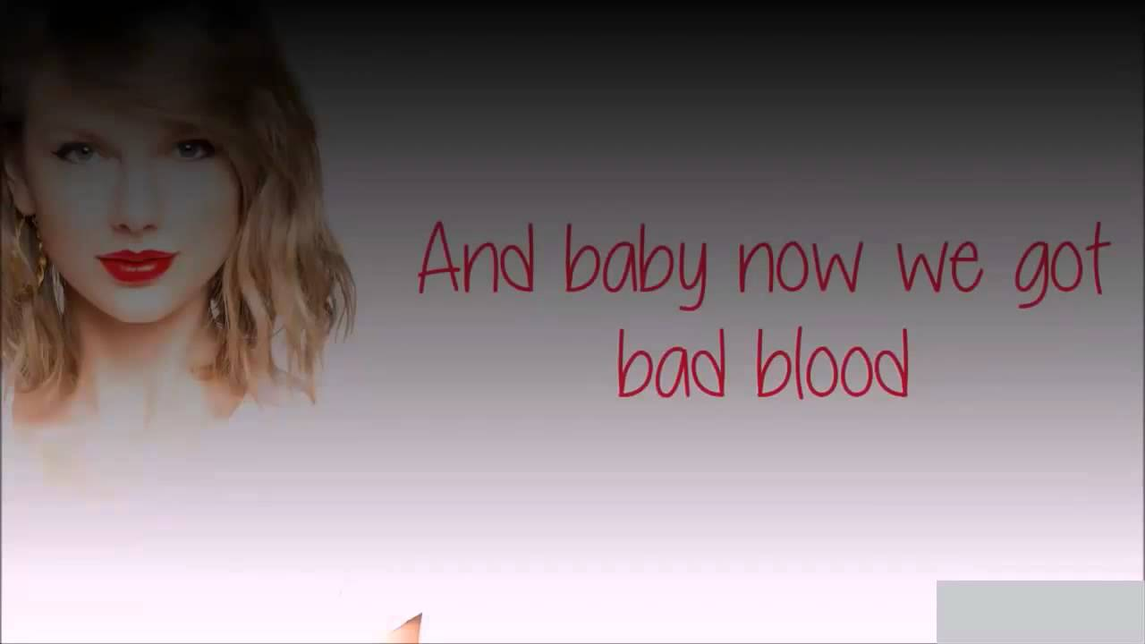 Taylor swift bad blood official music video cover lyrics vevo