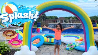 Inflatable Waterpark Pool Party - family fun