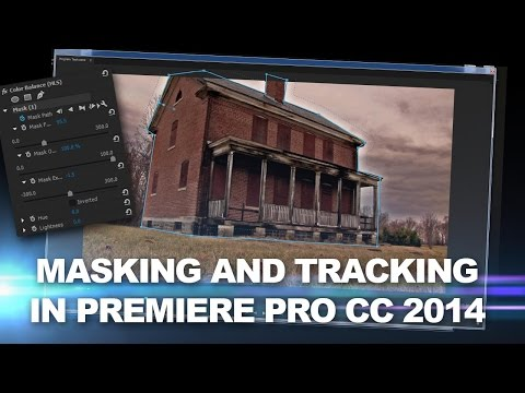 Premiere Pro CC Animate & feather spline masks plus motion tracking effects