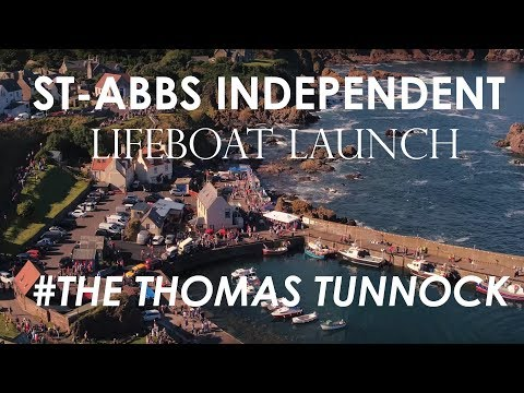 St Abbs Independent Lifeboat Launch 2016
