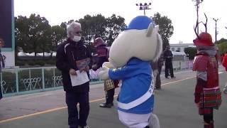 「めっちゃ好きやねん大阪城3Dマッピング」のPRにそのたんと甲冑姿の...