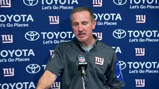 Giants interim coach Steve Spagnuolo talks Eli Manning VS Davis Webb