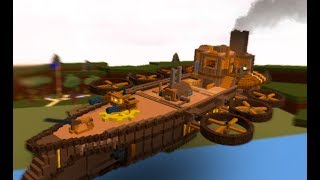 STEAMPUNK BATTLESHIP | 🔨 building process | Build a Boat for Treasure ROBLOX