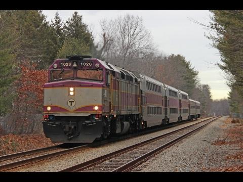 Fast MBTA Commuter Rail Trains In Abington! 1/2/17