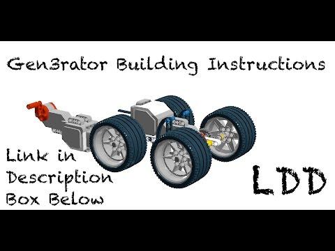 Lego Mindstorms Gen3rator   LDD Building Instructions - YouTube