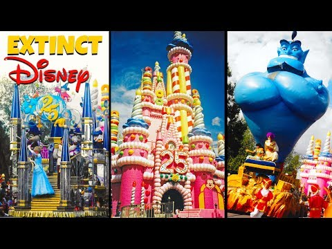 Extinct Disney- 25th Anniversary Parade Secrets- Disney World