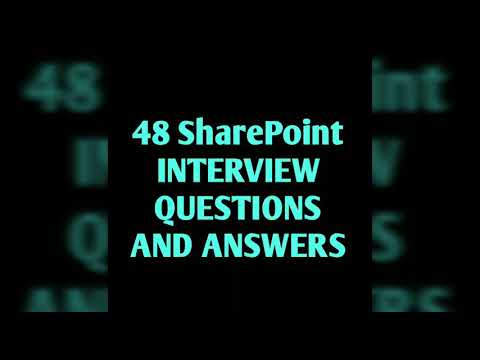 48 SharePoint interview questions and answers