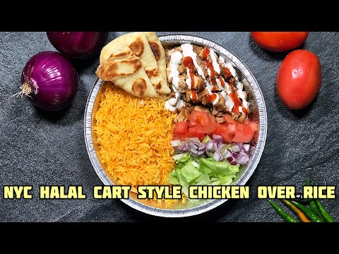 NYC Halal Cart Style Chicken Over Rice | Mediterranean Food | Quick & Easy Recipe