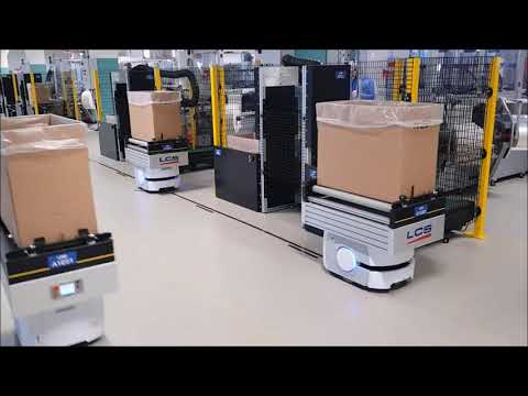 Material handling solutions with autonomous mobile robots