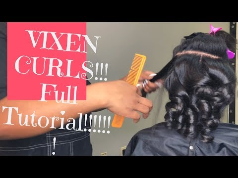 "HOW TO: CURL WITH FLAT IRON ON NATURAL HAIR !!! 3b 4c ""VIXEN CURLS"""
