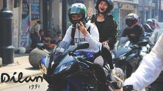 Riding bareng Iqbaal (Dilan) dan Vanesha (Milea) di Bandung, Februa...