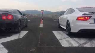 Nissan GTR 35 vs  Audi RS7 Tuning Grill Party 6