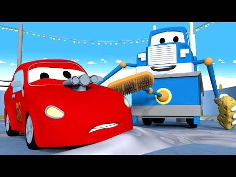 The Zamboni Truck to prepare the HOCKEY tournament  - Carl the Super Truck in Car City | Cartoons