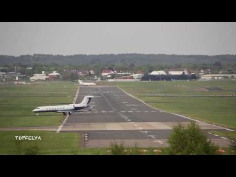 Gulfstream g650 at Farnborough airport London 2014