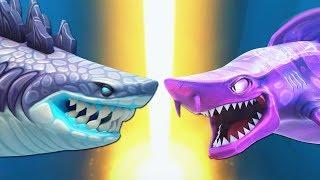 АКУЛА ГОДЗИЛЛА ПРОТИВ МАГИЧЕСКОЙ АКУЛЫ   Hungry Shark Evolution против Hungry Shark World